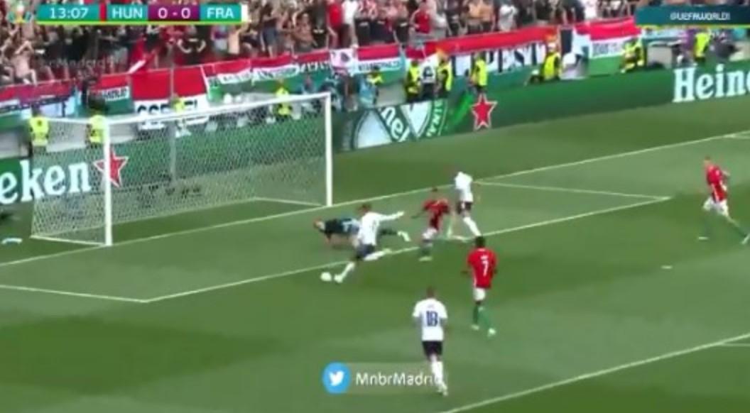 Besoni apo jo  Antoine Griezmann nuk arriti të shënojë nga kjo pozitë kundër Hungarisë